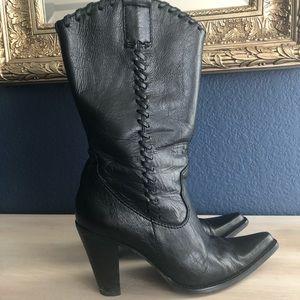 Steve Madden Black Saloon Boots, 7.5m